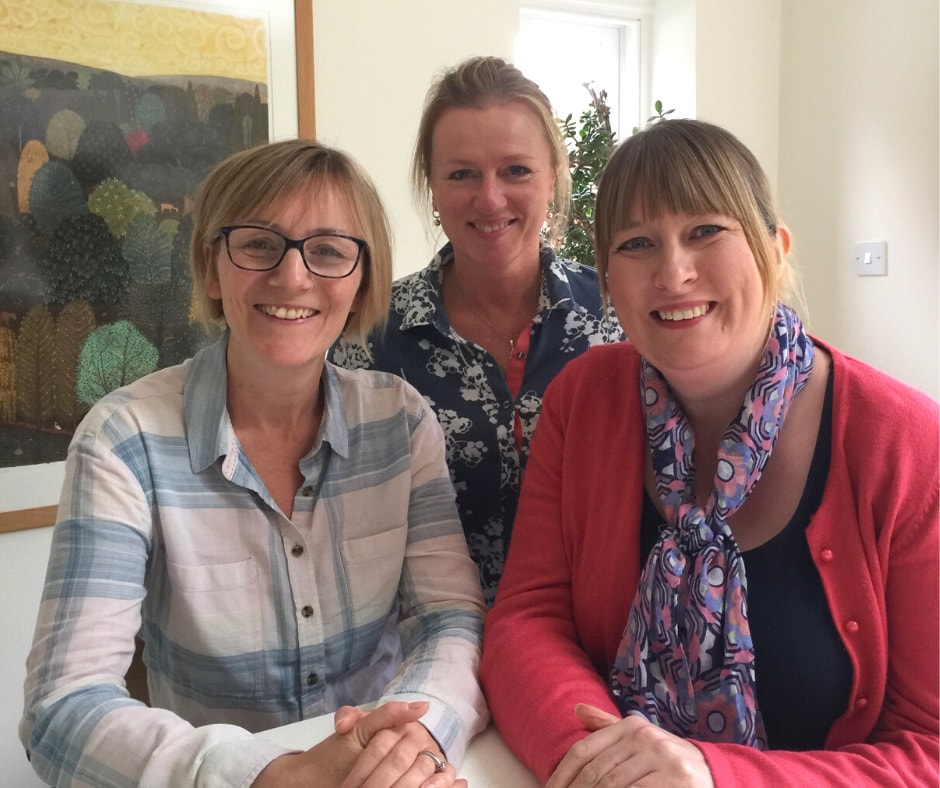 Roz, Caroline & Emma - mindfulness teachers